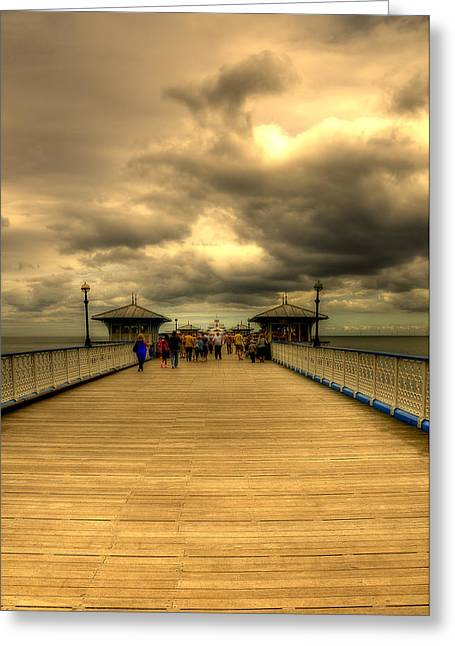 A Pier Greeting Card by Svetlana Sewell