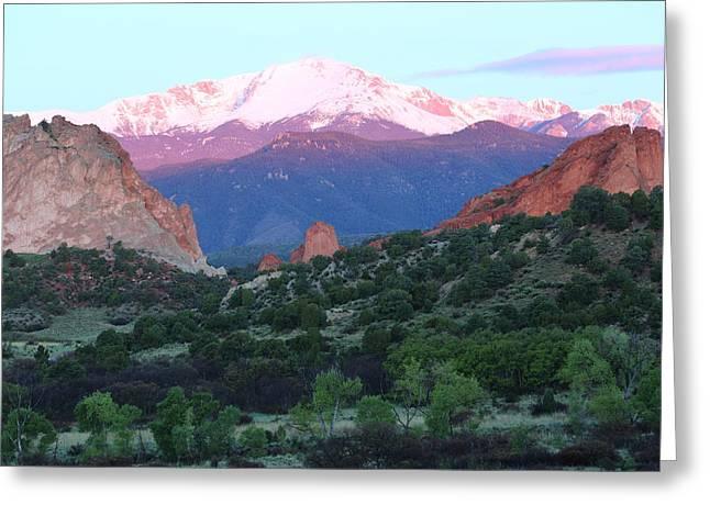 A Pikes Peak Sunrise Greeting Card