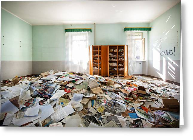 A Pile Of Knowledge - Abandoned School Greeting Card