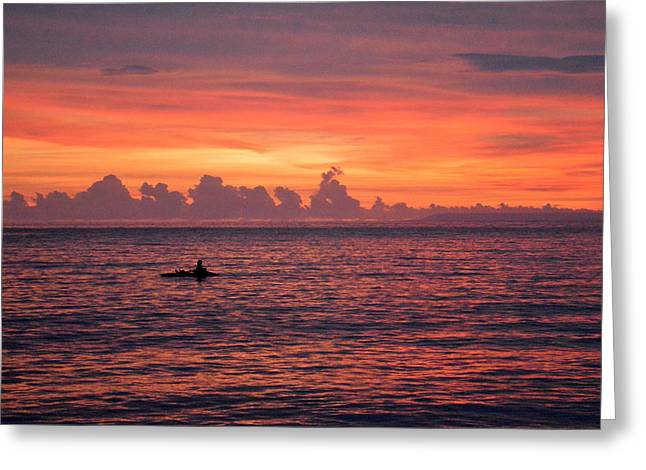 A Pink Sunset Greeting Card