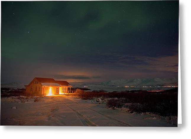 Greeting Card featuring the photograph A Place For The Night, South Of Iceland by Dubi Roman