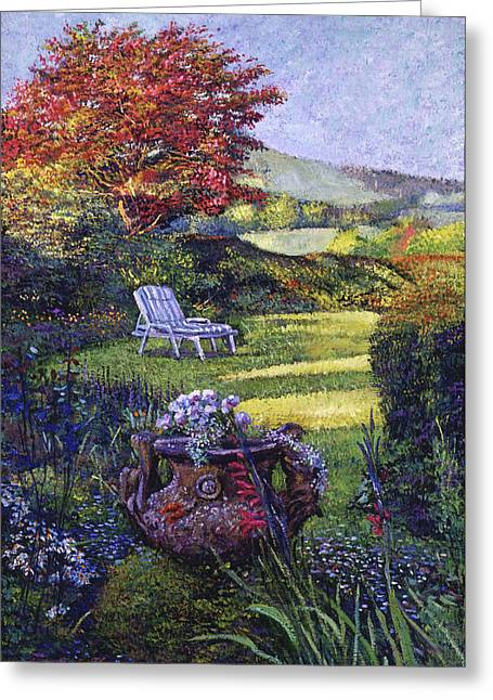 A Place Of Peace Greeting Card by David Lloyd Glover