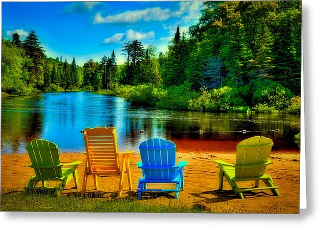 A Place To Relax At Singing Waters Greeting Card