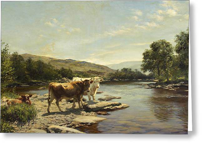 A Placid Morning On The Wye Greeting Card