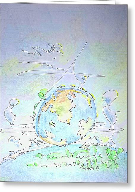 A Planet Remembered Greeting Card