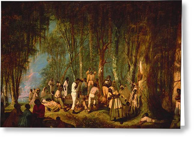 A Plantation Burial Greeting Card by Mountain Dreams