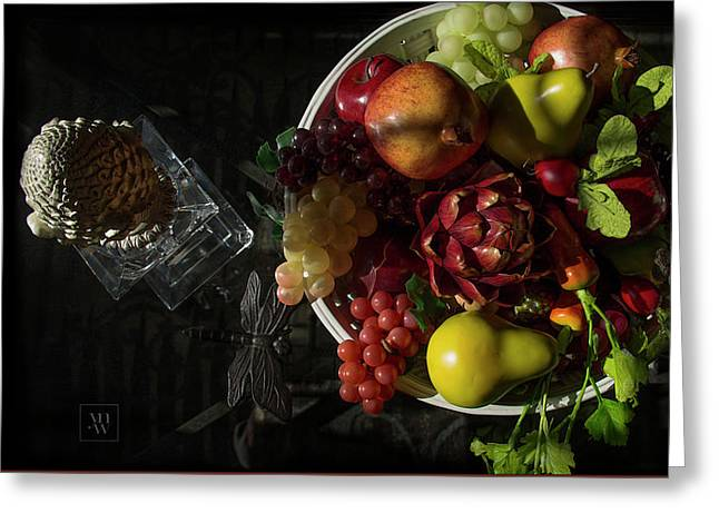A Plate Of Fruits Greeting Card