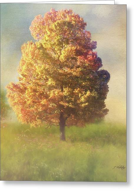 A Poem As Lovely As A Tree - Autumn Art Greeting Card by Jordan Blackstone