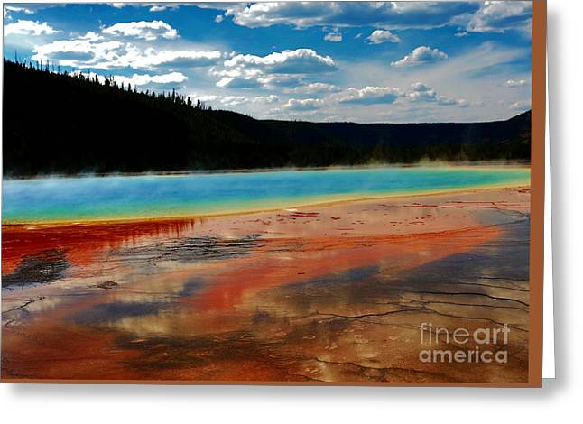 Greeting Card featuring the photograph A Pool Of Color by Robert Pearson