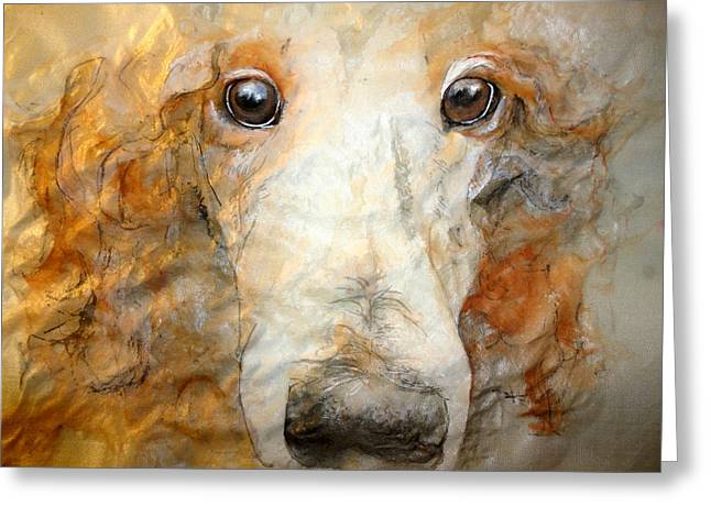 A Portrait Of Charlie Greeting Card by Debbi Saccomanno Chan