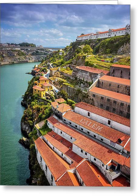 A Portrait Of Porto  Greeting Card by Carol Japp