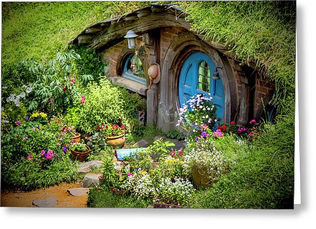 A Pretty Hobbit Hole Greeting Card