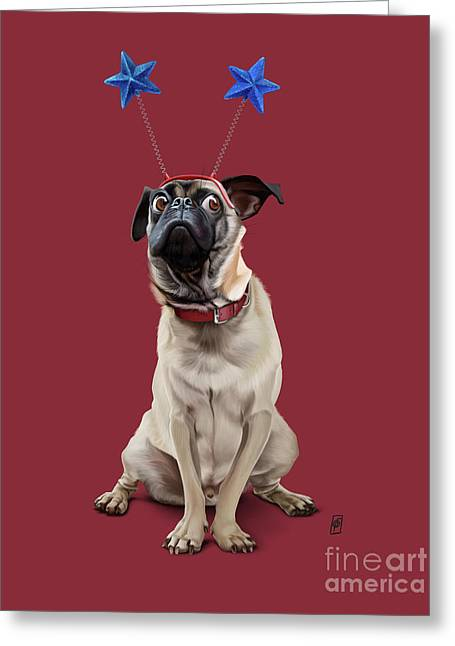 A Pug's Life Colour Greeting Card by Rob Snow