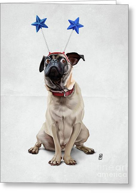 A Pug's Life Wordless Greeting Card by Rob Snow
