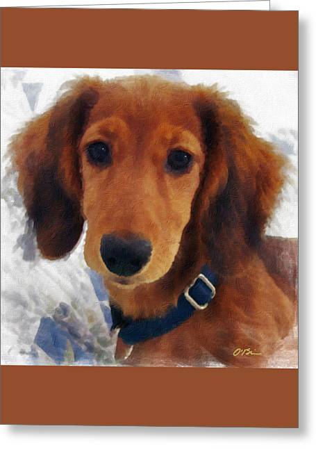 A Puppy Called Redford Greeting Card