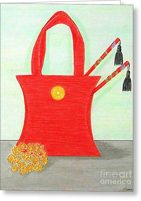 A Purse For Mei Ling -- The Original -- Still Life Greeting Card