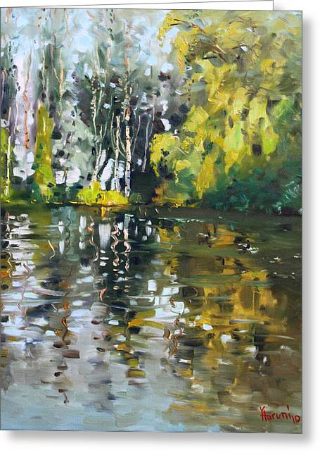 A Quiet Afternoon Reflection Greeting Card by Ylli Haruni