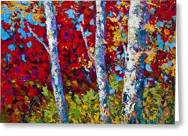 Leafs Greeting Cards - A Quiet Pause Greeting Card by Marion Rose