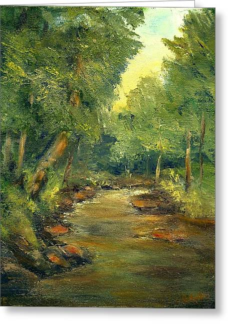 Greeting Card featuring the painting A Quiet Place by Gail Kirtz