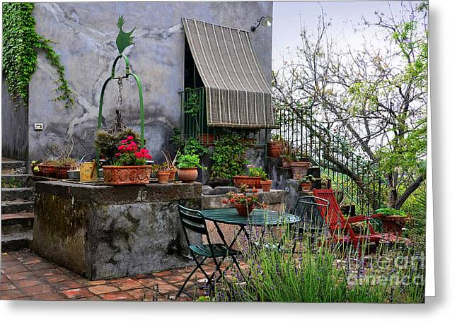 A Quiet Place In Santa Venerina Greeting Card by RicardMN Photography