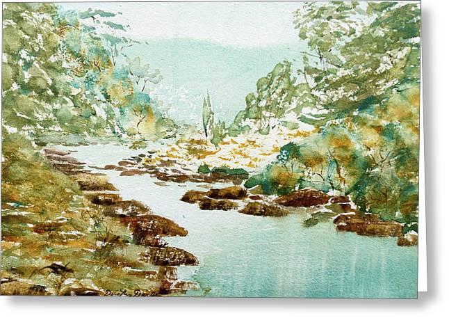 A Quiet Stream In Tasmania Greeting Card