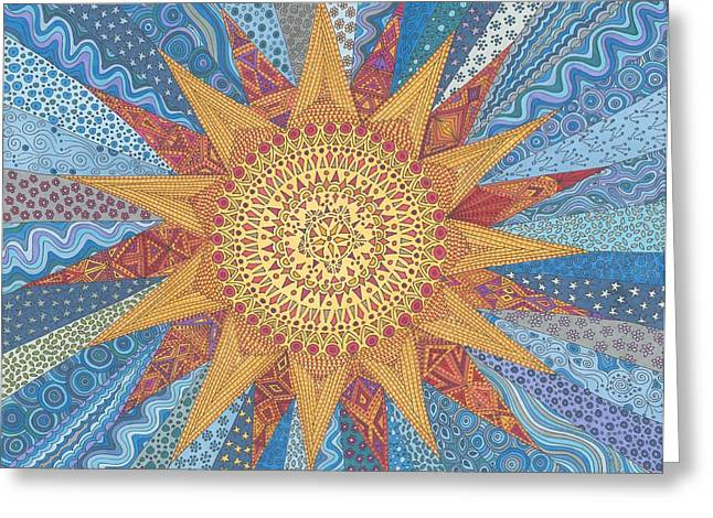 A Quilt Of Sunshine Greeting Card