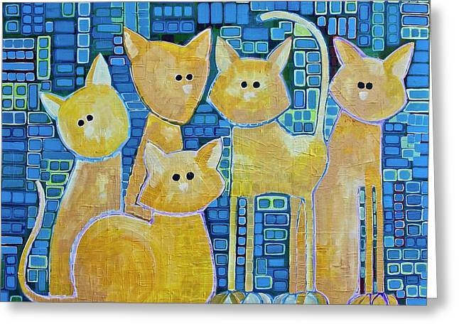 A Quorum Of Cats Greeting Card