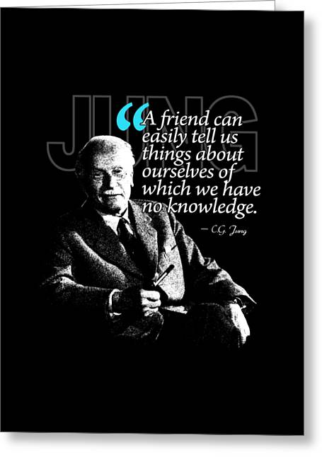 A Quote From Carl Gustav Jung Quote #26 Of 50 Available Greeting Card by Garaga Designs