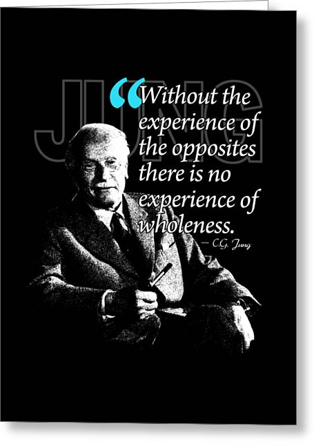 A Quote From Carl Gustav Jung Quote #27 Of 50 Available Greeting Card by Garaga Designs