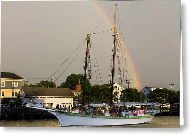 A Rainbow Cruise Greeting Card