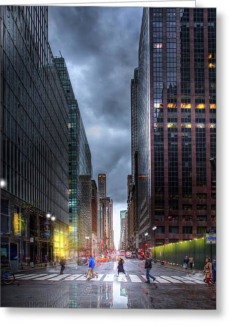 A Rainy Day In New York City Greeting Card