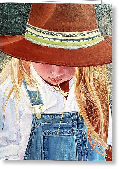 A Real Cowgirl Greeting Card