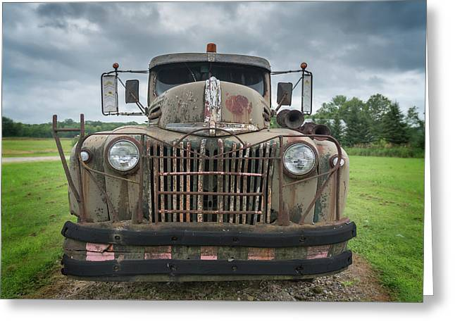 Greeting Card featuring the photograph A Really Rusty Ford by Guy Whiteley