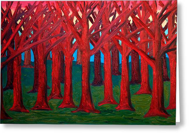 A Red Wood - Sold Greeting Card by Paul Anderson