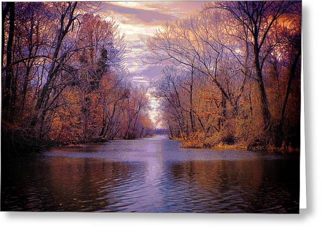 A Reelfoot Bayou Greeting Card by Julie Dant
