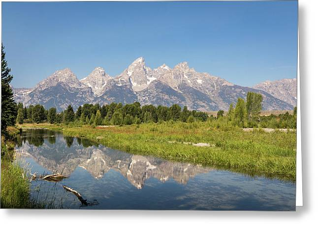 A Reflection Of The Tetons Greeting Card
