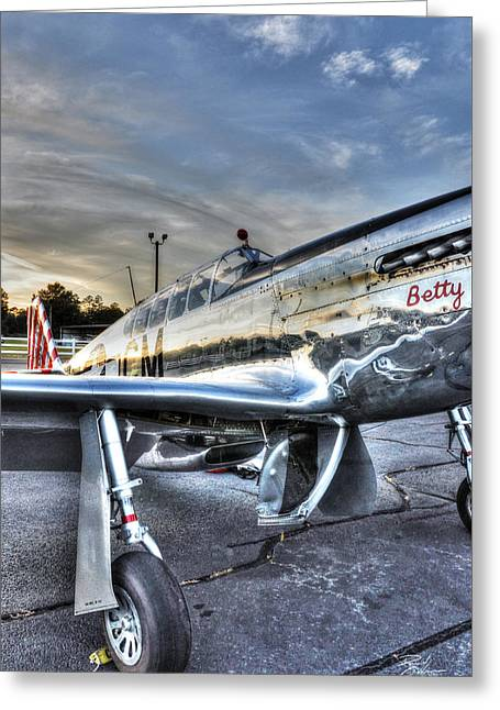 A Reflective Mustang Greeting Card by David Collins