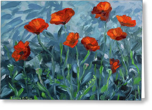 A Remant Of Poppies Greeting Card by Eugenie B Fein