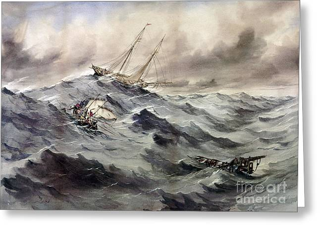 A Rescue At Sea, C1862 Greeting Card