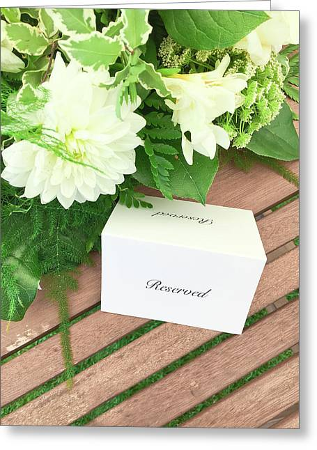 A Reserved Sign Greeting Card