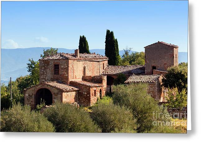 A Residence In Tuscany, Italy. Tuscan Farm Greeting Card