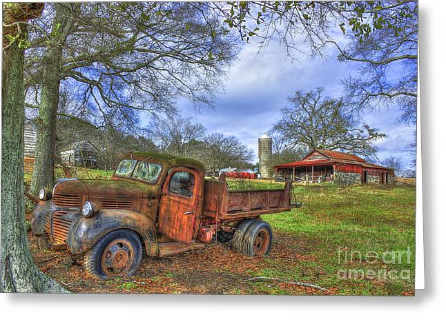 A Resting Place On The Boswell Farm Greeting Card by Reid Callaway
