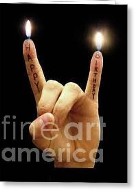 Happy Birthday Greeting Card by Rhonda Jackson