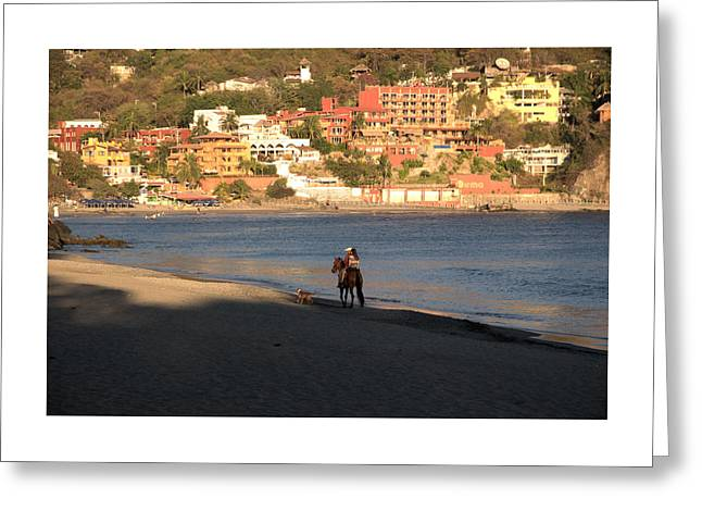 A Ride On The Beach Greeting Card by Jim Walls PhotoArtist