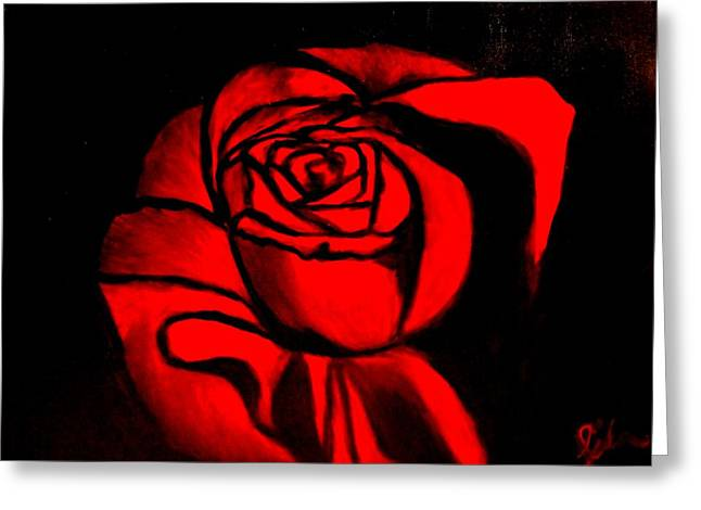 A Rose For Delilah  Greeting Card