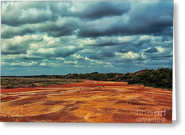 Greeting Card featuring the photograph A River Of Red Sand by Diana Mary Sharpton