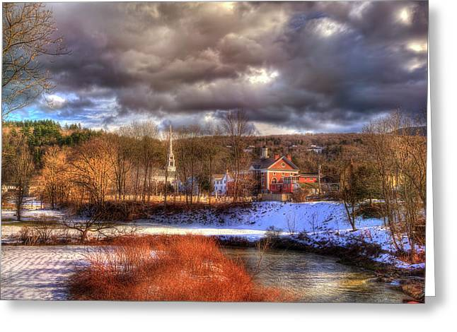 Greeting Card featuring the photograph A River Runs Through Stowe - Vermont by Joann Vitali