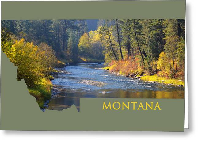 A River Runs Thru Autumn Greeting Card