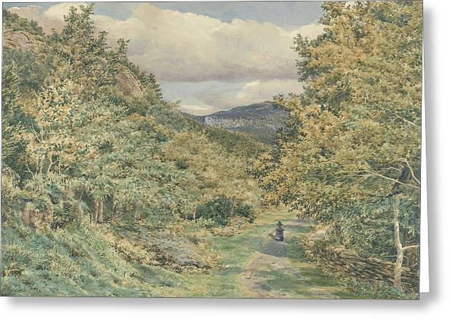 A Road Near Bettws Y Coed Greeting Card by George Price Boyce
