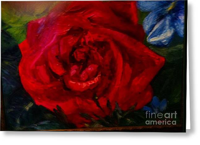 A  Rose Is Greeting Card